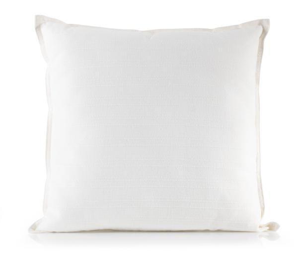 Zierkissen Solid One in Weiß, ca. 45x45cm - Naturfarben, Textil (45/45cm)