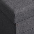 SITZBOX in grau mit Schublade 'Ariana' - Grau, MODERN, Textil (42/43/42cm) - Bessagi Home