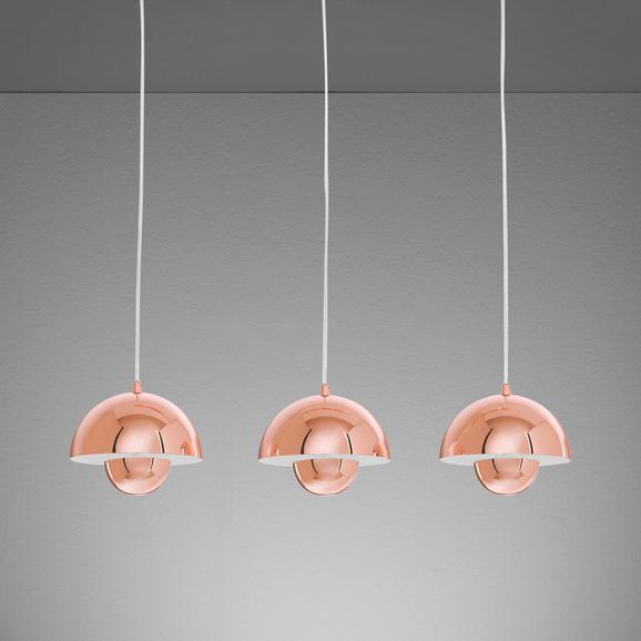 Hängeleuchte Style - Kupferfarben, Metall (76/20/110cm) - MÖMAX modern living