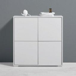 Kommode Basic - Weiß, MODERN, Holz (80/80/30cm) - Mömax modern living
