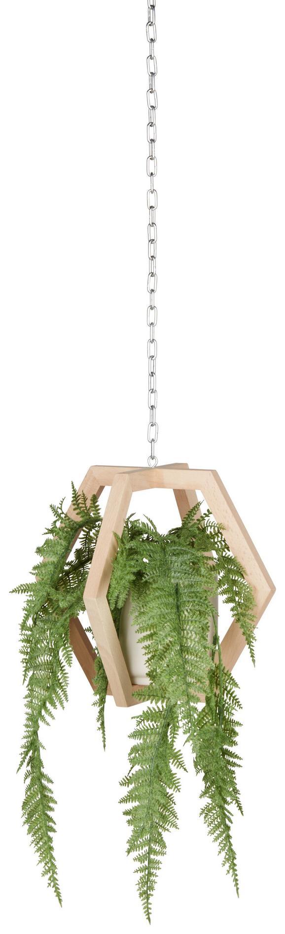Pflantopfhänger Felix in Naturfarben - Creme/Naturfarben, Holz/Keramik (28/24,3cm) - Mömax modern living