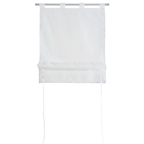 Bändchenrollo Nina, ca. 60x140cm - Weiß, Textil (60/140cm) - Mömax modern living