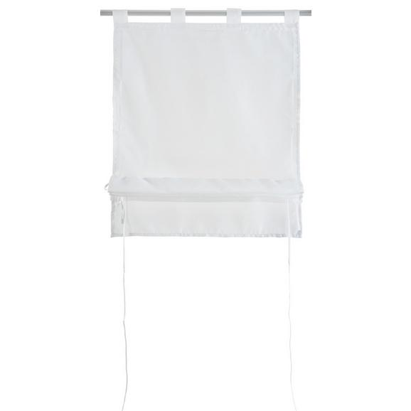 Bändchenrollo Nina, ca. 80x140cm - Weiß, Textil (80/140cm) - Mömax modern living