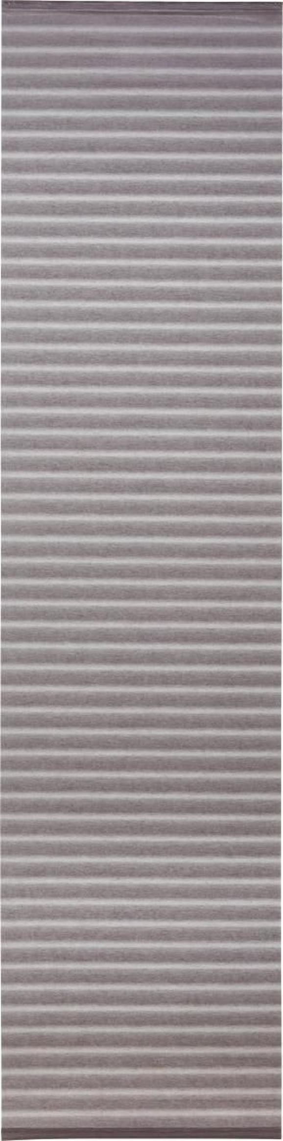 Flächenvorhang Flow Weiß 60x245cm - Weiß, MODERN, Textil (60/245cm) - Mömax modern living