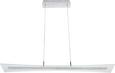 Pendelleuchte Rufus mit Led 5-flammig - Chromfarben, MODERN, Glas/Metall (100/15/120cm) - Premium Living
