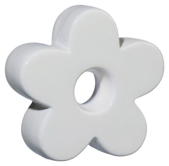 Okrasna Roža Luisa - bela, Romantika, keramika (8,5/8,5/3cm)