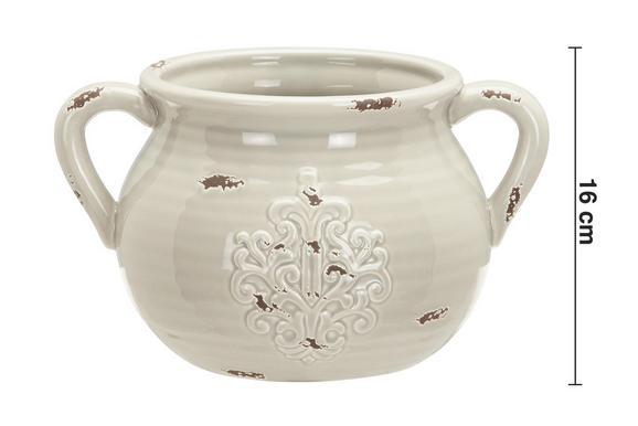 Dekokrug Euphoria ca. 27,5/16 cm - Grau, ROMANTIK / LANDHAUS, Keramik (27,5/21/16cm) - Mömax modern living