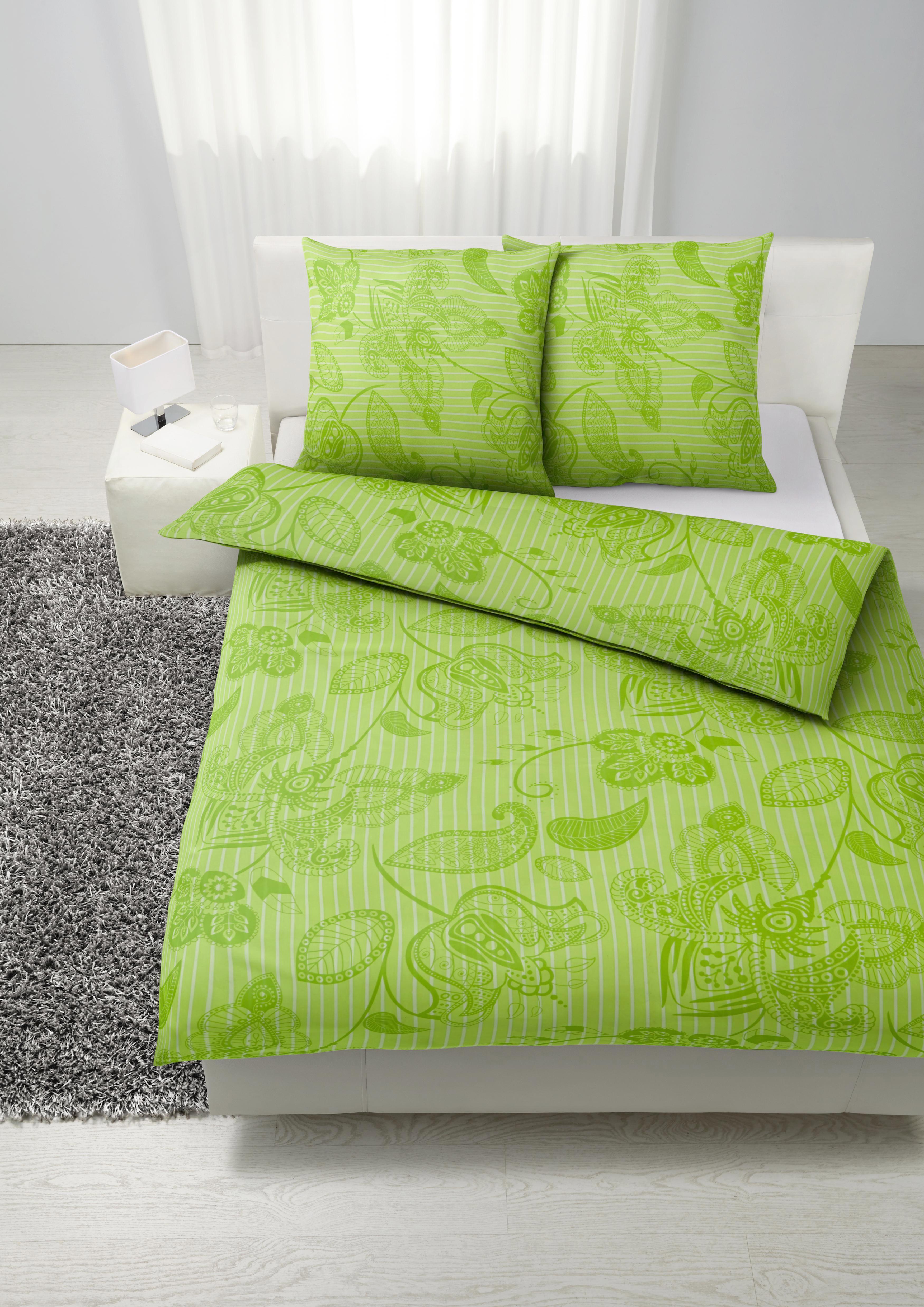 Bettwäsche Marietta XXL, ca. 200x200cm - Grün, Textil (200/200cm) - MÖMAX modern living