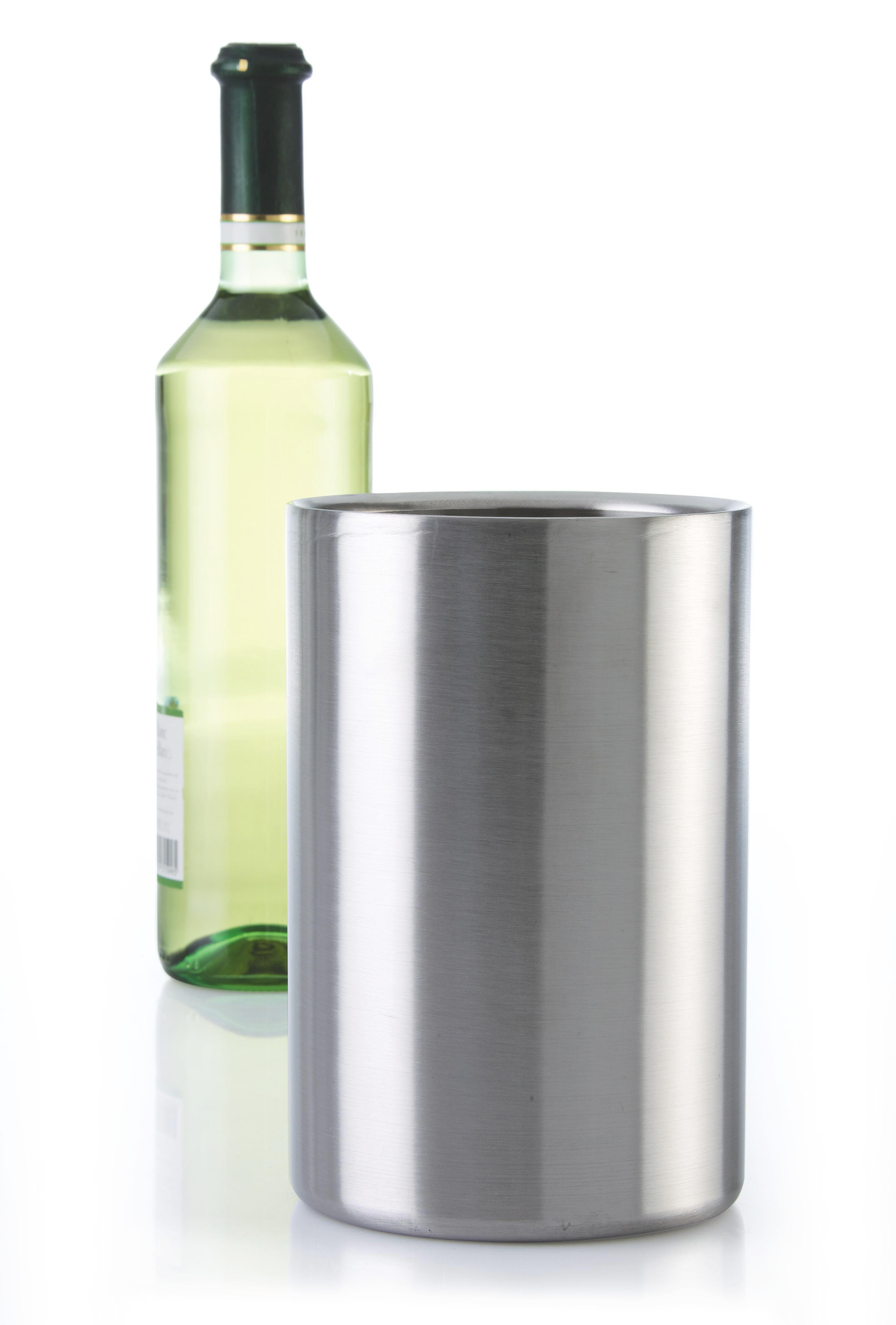 Flaschenkühler Timo - Edelstahlfarben, MODERN, Metall (11,5/20cm) - MÖMAX modern living