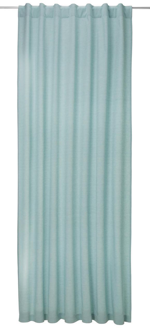 Zavesa Z Zankami Ella - modra, Moderno, tekstil (140/255cm) - Premium Living