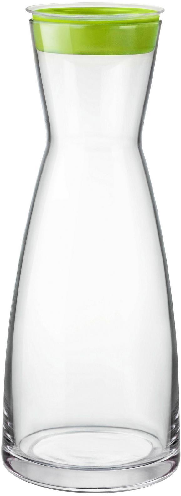 Wasserkaraffe Brio - Türkis/Klar, Glas (1l) - Mömax modern living