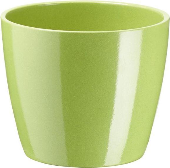 Ghiveci Pentru Flori ''luisa'' - Maro/Alb, MODERN, Ceramică (12/10cm) - BASED
