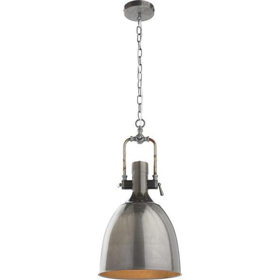 Pendelleuchte Newton - Grau, MODERN, Metall (28/28/120cm) - Bessagi Home