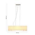 Hängeleuchte max. 40 Watt 'Agneta' - Beige, Textil/Metall (72/22/160cm) - Bessagi Home