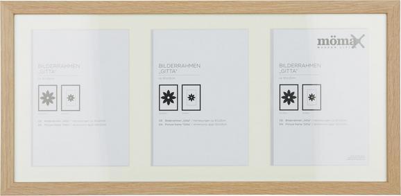 Bilderrahmen Gitta, ca. 23x50cm - Eichefarben, Glas/Holz (23/50cm) - Mömax modern living