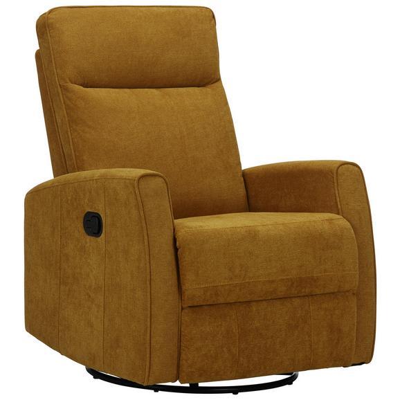 Relaxsessel in Gelb - Gelb/Schwarz, MODERN, Textil/Metall (76/103/96cm) - Modern Living
