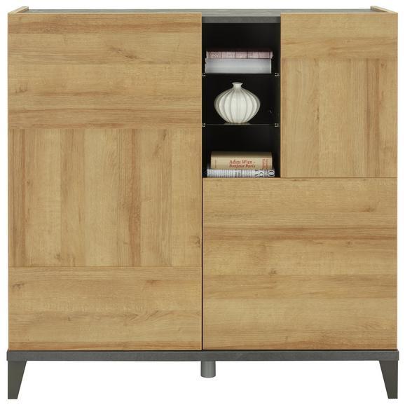 Visoka Komoda Vittoria - hrast/antracit, kovina/leseni material (120/120/45cm) - Mömax modern living