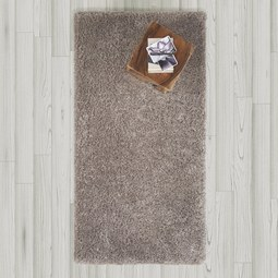 Hochflorteppich in Grau ca.80x150cm 'Shaggy' - Grau, MODERN, Textil (80/150cm) - Bessagi Home