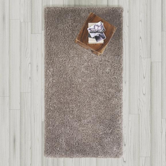 Teppich Hochflor Shaggy ca. 80x150 cm - Grau, MODERN, Textil (80/150cm) - Bessagi Home