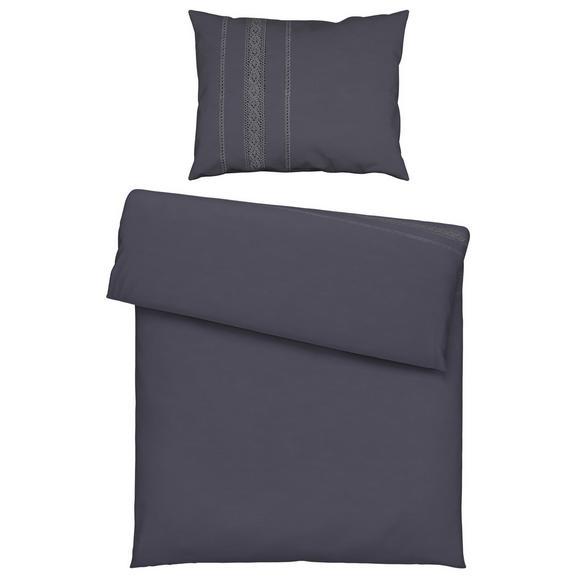 Lenjerie De Pat Madrid - gri închis, textil (140/200cm) - Zandiara