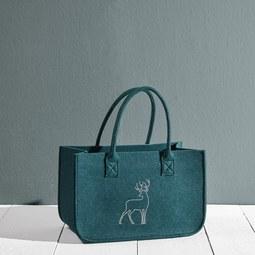 Tasche Luca ca.38x24cm - Grün, MODERN, Textil (38/20/24cm) - Mömax modern living