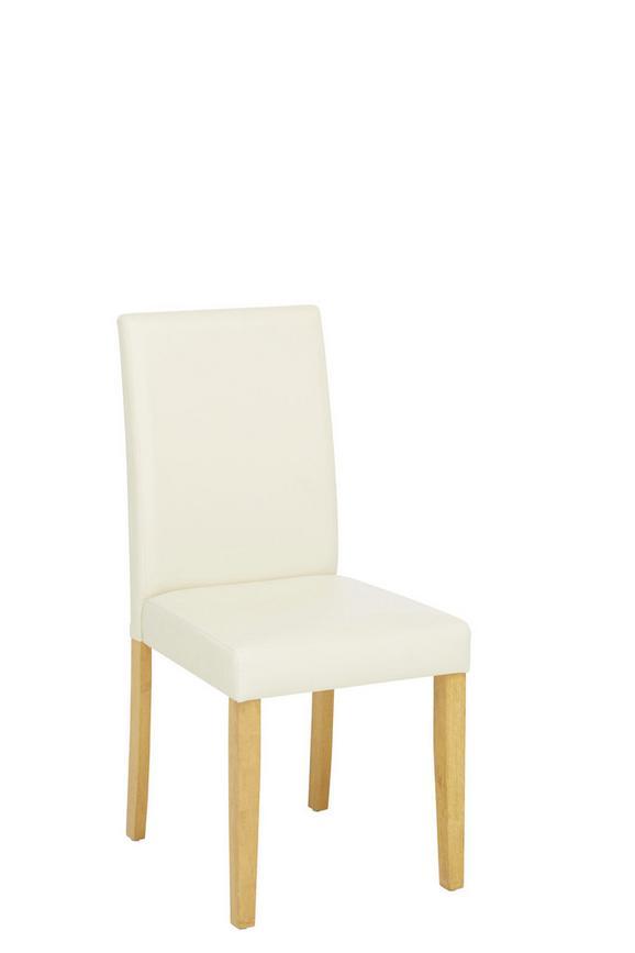 Stol Eva Ii - hrast/krem, Konvencionalno, tekstil/les (45/95/55cm) - Based