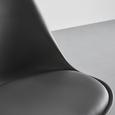 STUHL in Grau 'Ricky' - Buchefarben/Grau, MODERN, Holz/Kunststoff (48/85/57,4cm) - Bessagi Home