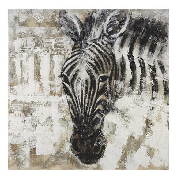 Keilrahmenbild Animals, 100x100cm - Schwarz/Weiß, LIFESTYLE, Holz/Textil (100/100cm) - Mömax modern living