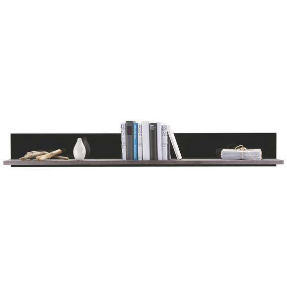 Stenska Polica Dark - Moderno, leseni material (160/20/25cm) - Premium Living