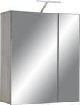 Omara Z Ogledalom Santorin Z Led - temno rjava, Konvencionalno, steklo/leseni material (65/75/22cm) - Premium Living