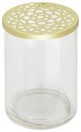 Vase Cara Goldfarben - Klar/Goldfarben, MODERN, Glas/Metall (10/15cm)