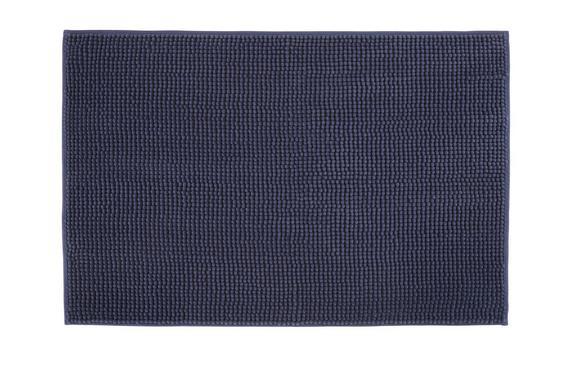 Fürdőszobaszőnyeg Chenille - Kék, Textil (60/90cm) - Mömax modern living