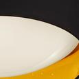 LED-Deckenleuchte Jette - Goldfarben/Schwarz, MODERN, Kunststoff/Textil (40/10cm) - Modern Living