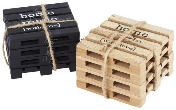 Untersetzerset Connor verschiedene Farben - Schwarz/Braun, MODERN, Holzwerkstoff (10/10/6cm)