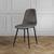 Stuhl Ida - Schwarz/Braun, MODERN, Holz/Textil (44/89/41,5cm) - Bessagi Home