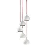 Hängeleuchte max. 40 Watt 'Sophie' - Silberfarben/Weiß, MODERN, Metall (25/150cm) - Bessagi Home
