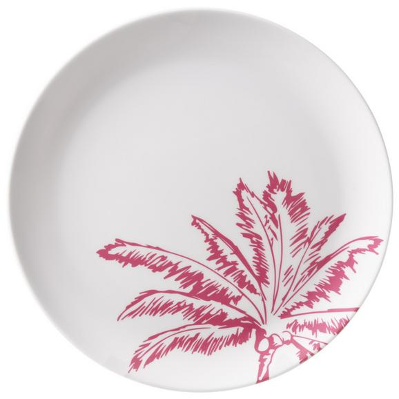 Farfurie Desert Diamond Palm - roz aprins/alb, plastic (20cm) - Modern Living
