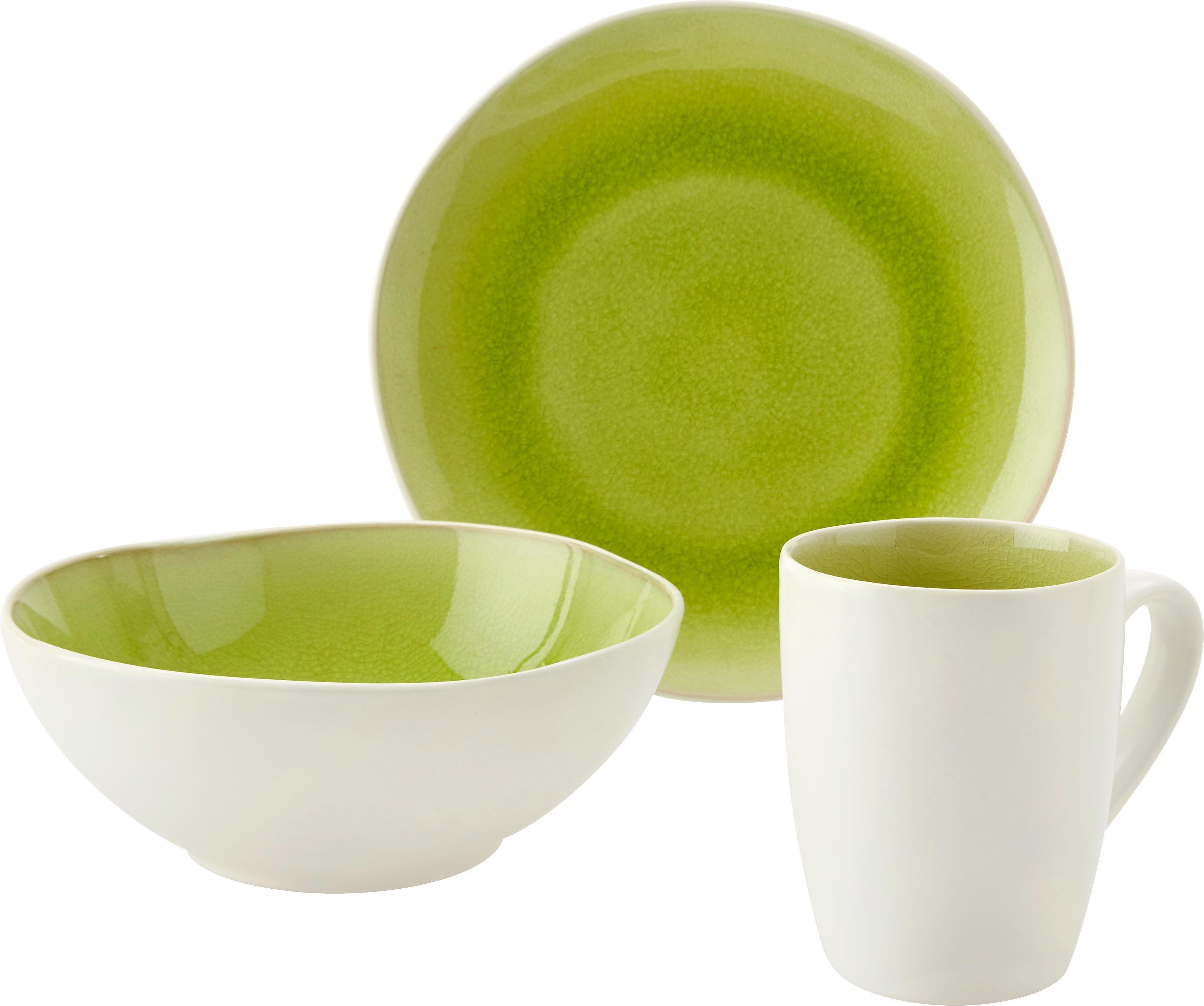Kávésbögre Sina - fehér/zöld, Lifestyle, kerámia (8,3/11cm) - MÖMAX modern living