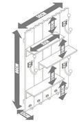 Garderobe Lola - Weiß, MODERN, Holz/Metall (50/80/13cm) - Modern Living