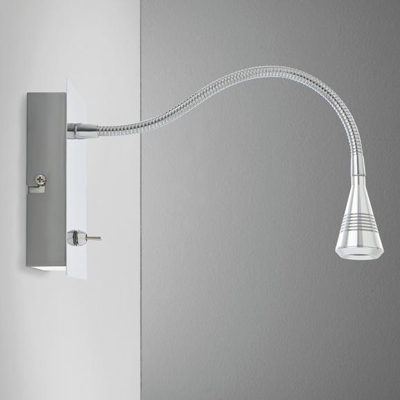 LED-Strahler Solo - Chromfarben, MODERN, Kunststoff/Metall (7/30/14cm) - Mömax modern living
