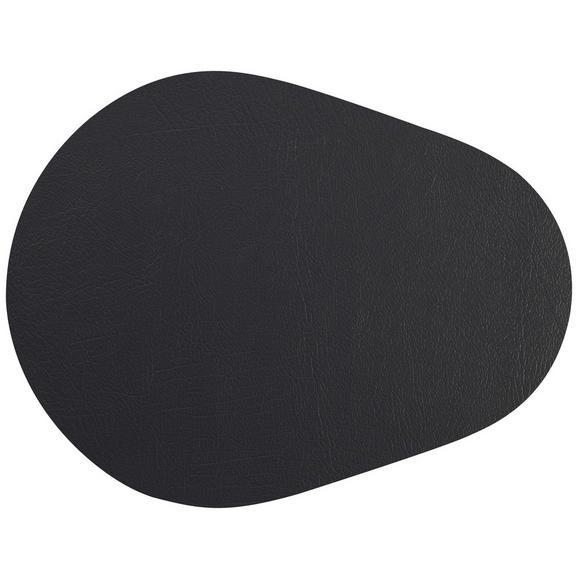 Tischset Jette aus Leder in Anthrazit - Anthrazit, Leder (45/35cm) - Premium Living