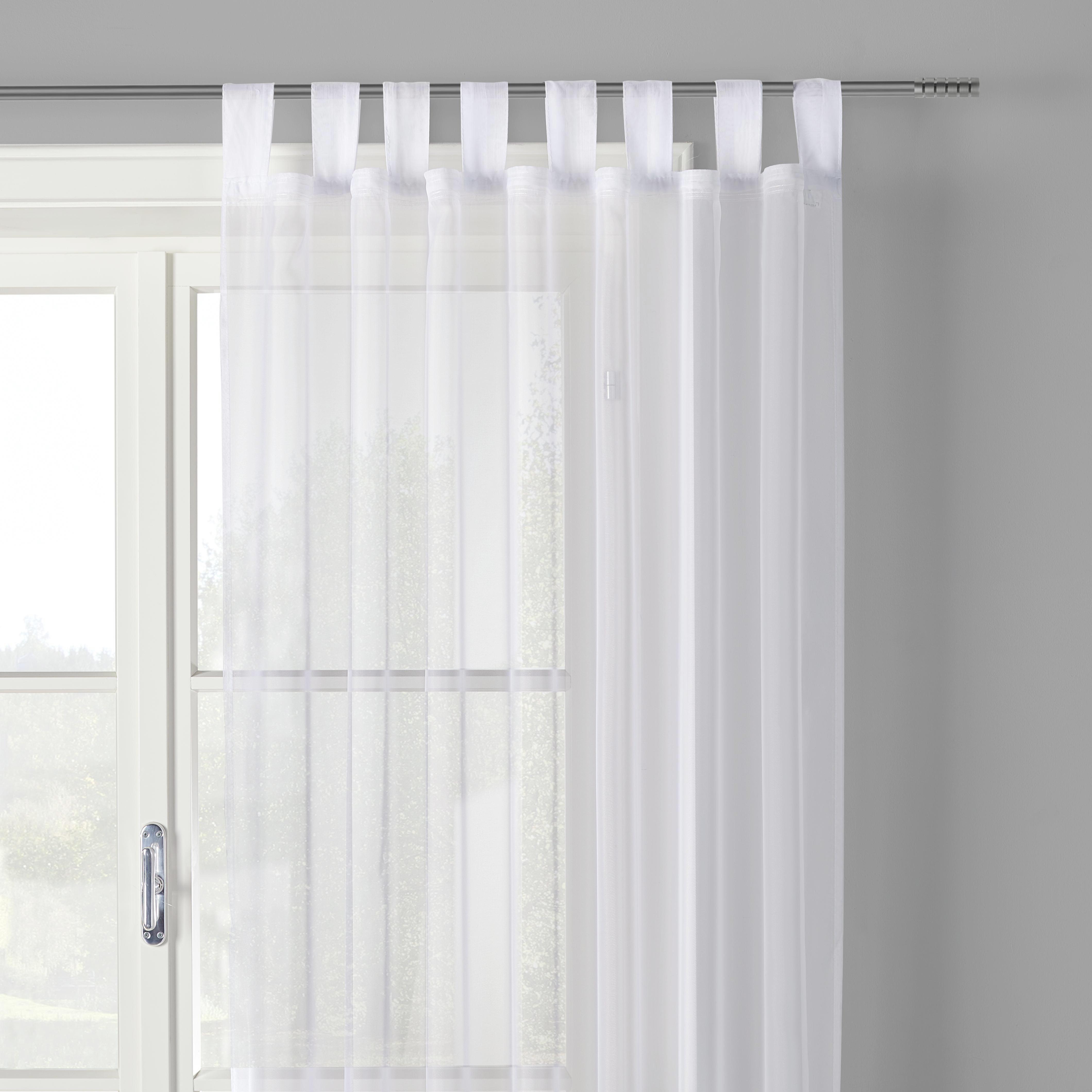 Készfüggöny Hanna - fehér, textil (140/245cm) - MÖMAX modern living