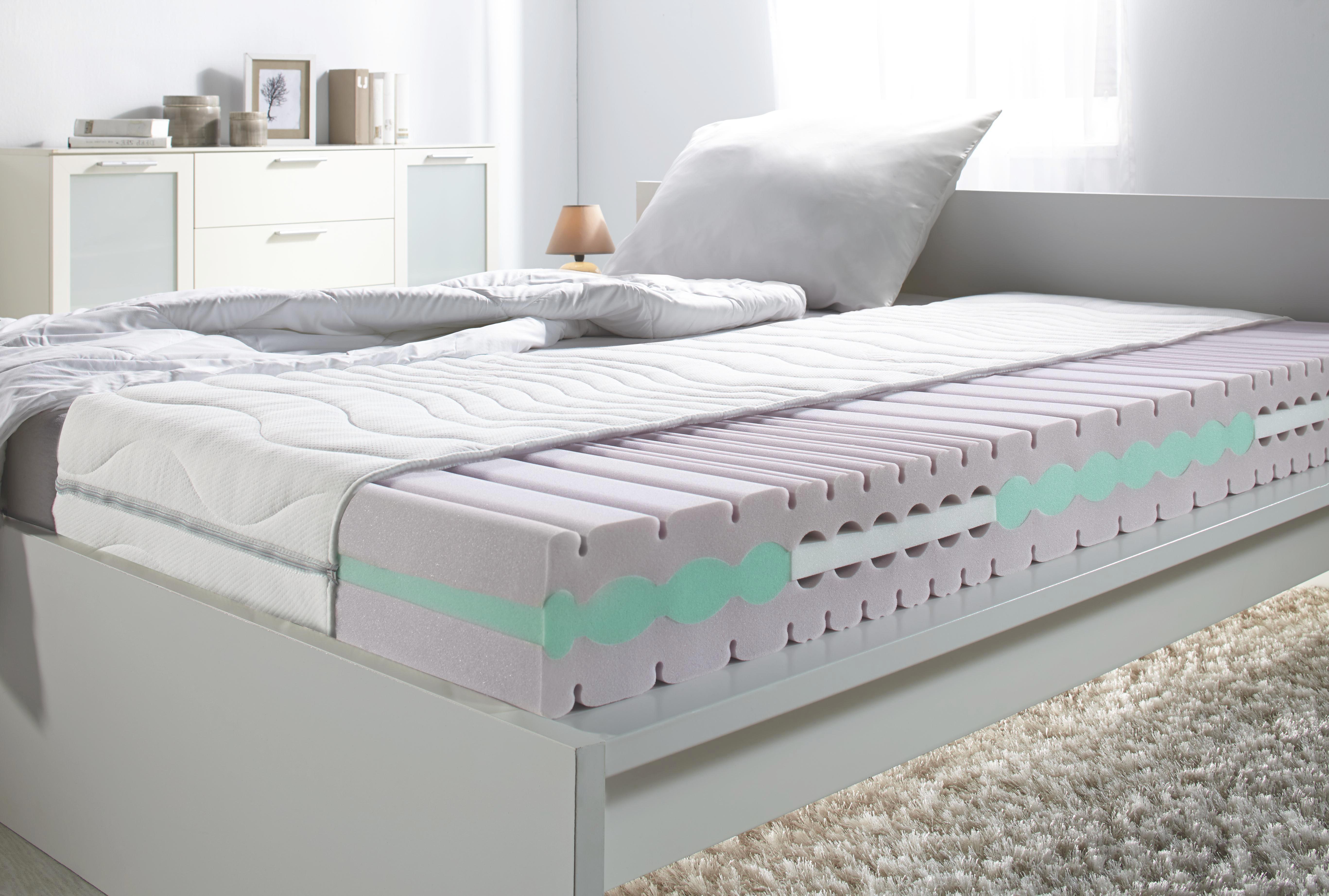 Komfortschaummatratze ca. 160x200cm - Weiß, Textil (160/200cm) - BASED