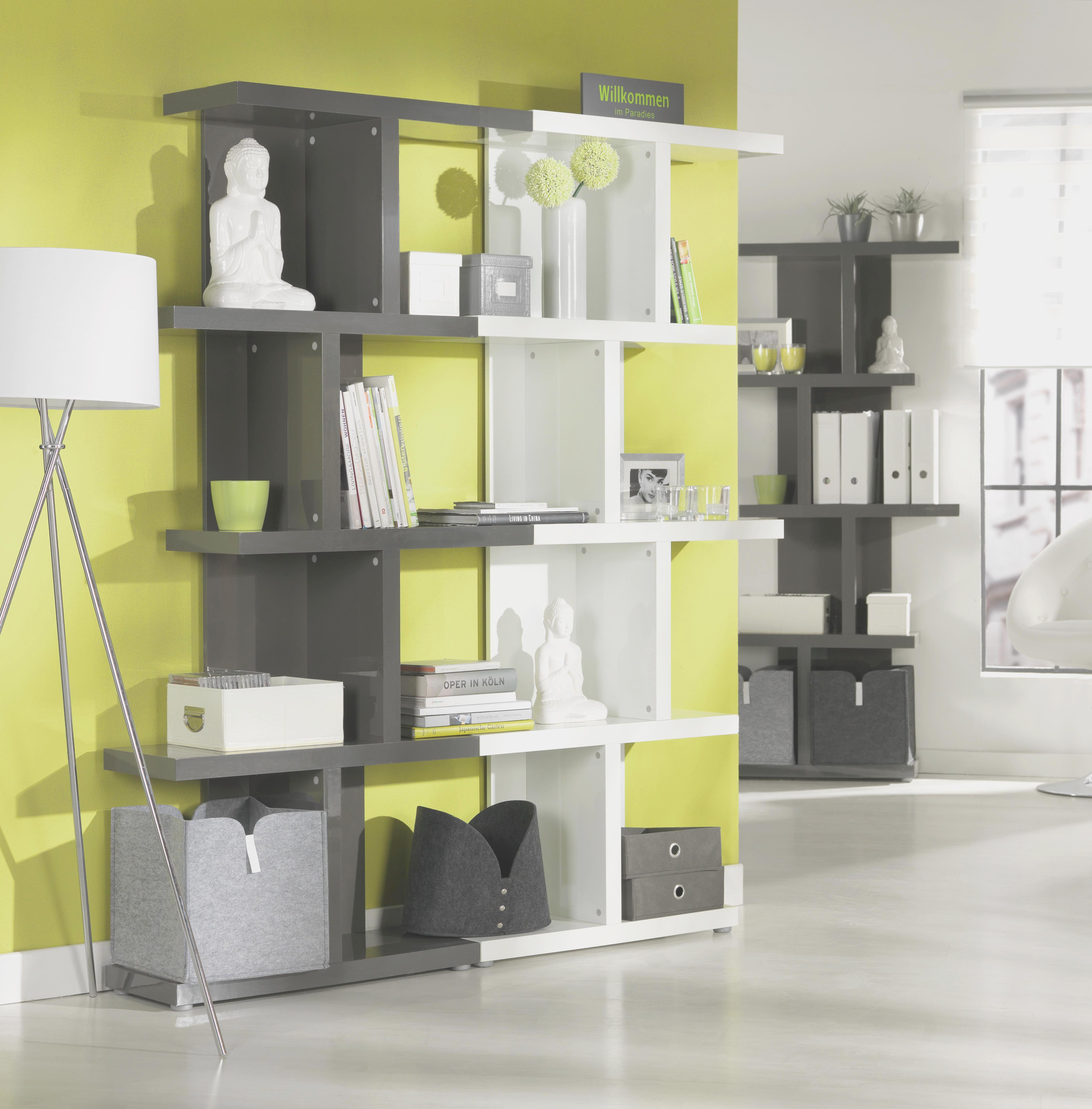 Regal in Weiß Hochglanz - Weiß, MODERN, Holzwerkstoff (89,9/184/28cm) - MÖMAX modern living