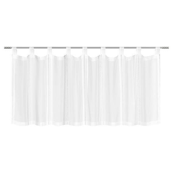 Kurzgardine Louis ca. 50x145cm - Weiß/Grau, KONVENTIONELL, Textil (50/145cm) - Mömax modern living