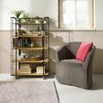 Fotelj Steffen - temno siva/antracit, Moderno, leseni material/tekstil (72/77/72cm) - Modern Living