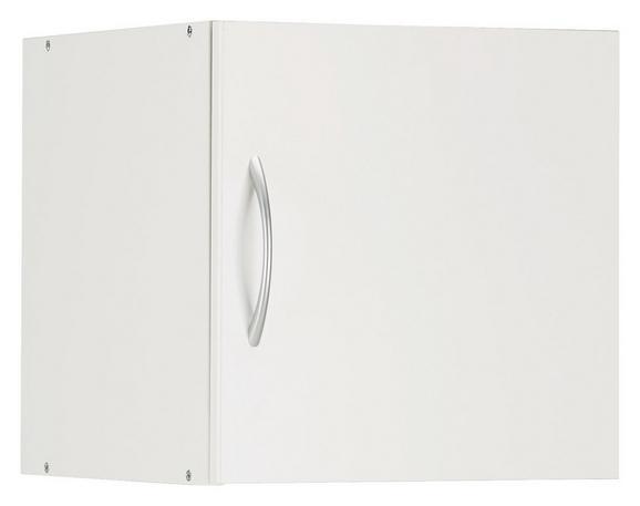 Aufsatzschrank Weiß - Alufarben/Weiß, Holzwerkstoff/Kunststoff (40/40/40cm) - Mömax modern living