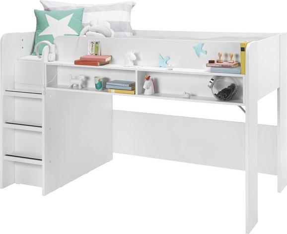 Hochbett Weiß 90x200cm - KONVENTIONELL, Holzwerkstoff (206/125/108cm) - Modern Living