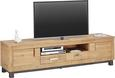 TV-Element Holz - Akaziefarben/Grau, KONVENTIONELL, Holz/Metall (190/50/45cm) - ZANDIARA