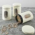 Echtwerk Vorratsdosenset 3-er Set Creme - Creme, MODERN, Metall (17,5cm) - Echtwerk